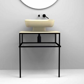 Modernes Aufsatzwaschbecken aus Keramik made in Italy, Reale