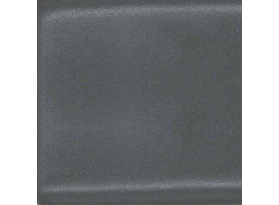Lehn- oder Wandwaschbecken aus farbiger Keramik oder weißem Leivi