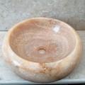 Aufsatzbecken Arlie aus Onyx-Stein, handgefertigte, einzigartige Spüle