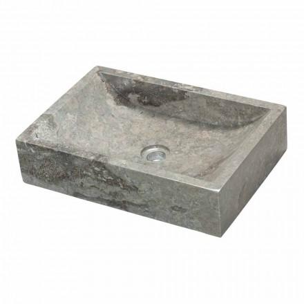 Aufsatzwaschbecken rechteckig aus Naturstein Giacarta