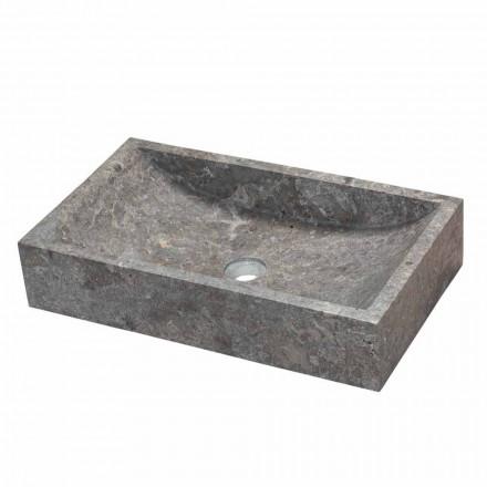 Rechteckiges Aufsatzwaschbecken aus Naturstein Satun Modell