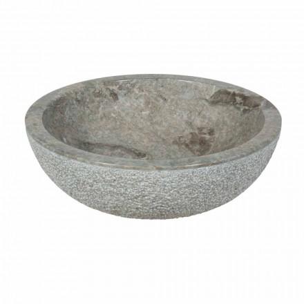 Rundes Aufsatzwaschbecken aus Naturstein Pai Modell
