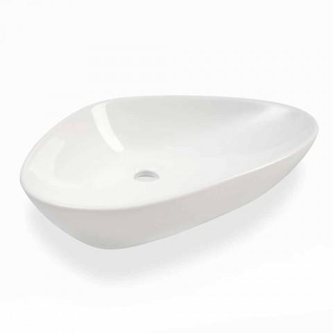 Aufsatzwaschtisch aus weißer Keramik Made in Italy - Hamburg