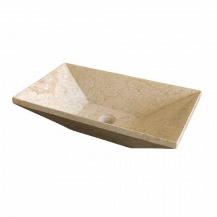 Trapezförmiges Aufsatzwaschbecken aus Basalt Wok Modell