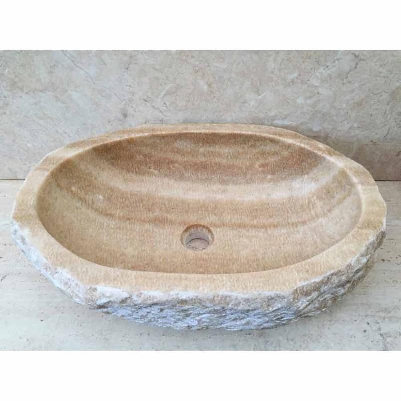 Aufsatzwaschbecken für das Bad Laia aus Naturstein