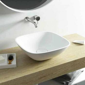 Freistehendes Waschbecken ba quadratisches Badezimmer hergestellt in Italien Taormina Mini