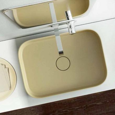 Modernes Aufsatzwaschbecken farbiggestallbar made in Italy, Formicola
