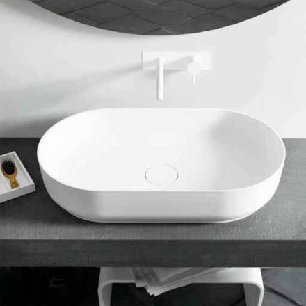 Ovales Aufsatzwaschbecken mit modernem Design Dalmine Big, made in Italy