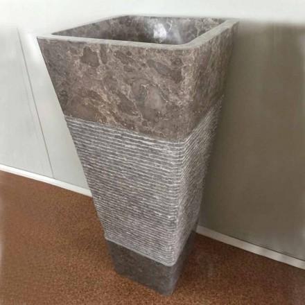 Natürliches graues Steindesign freistehendes Becken Taffy, Einzelstück