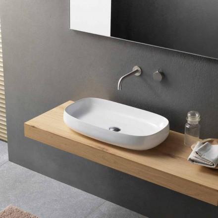 Modernes Design Weißes Keramik-Arbeitsplattenwaschbecken Made in Italy - Tune1