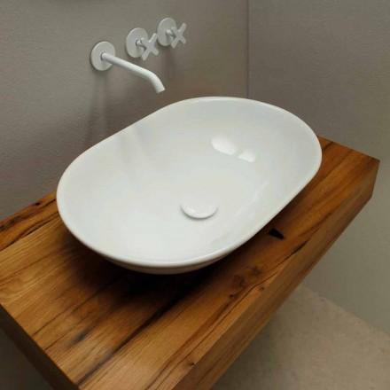 Modernes Design Aufsatzwaschbecken aus Keramik made in Italy