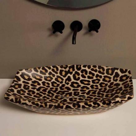 Aufsatzwaschbecken aus Keramik, Gepard, Design made in Italy Laura