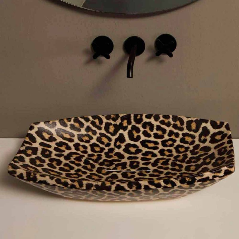 Cheetah Keramik Arbeitsplatte in Italien von Laura gemacht