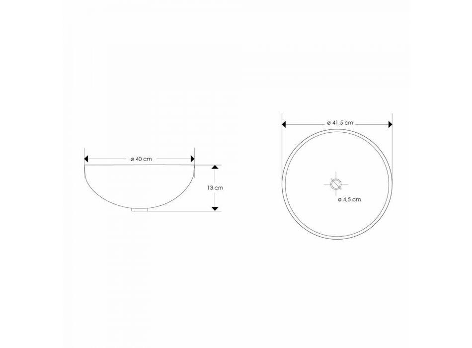 Aufsatzwaschbecken aus Harz mit modernen Perlmutteinsätzen - Salvatore