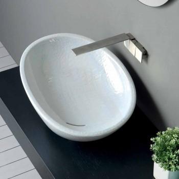 Perlmutt Waschbecken mit modernem Italian Made Glossy Design