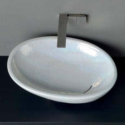 Aufsatzbecken aus Perlmutt in modernem Design made in Italy Glossy