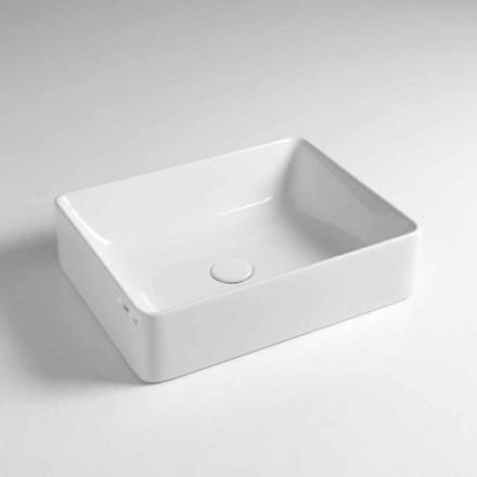 Rechteckige Aufsatzwaschbecken L 50 cm in Keramik Made in Italy - Rotolino