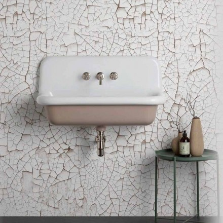 Vintage rechteckige Wandwaschbecken aus Keramik, Henry