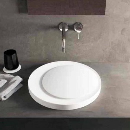 Rundes Aufsatzwaschbecken aus Luxolid Solid Surface Crema