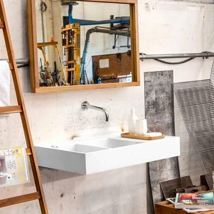 Hängendes Waschbecken mit fester Oberfläche, das Behälter Enna enthält