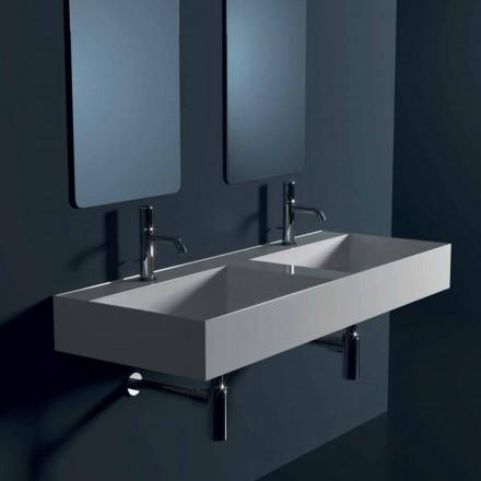 Hängewaschbecken aus Keramik modernes Design Sun 120x145cm made Italy