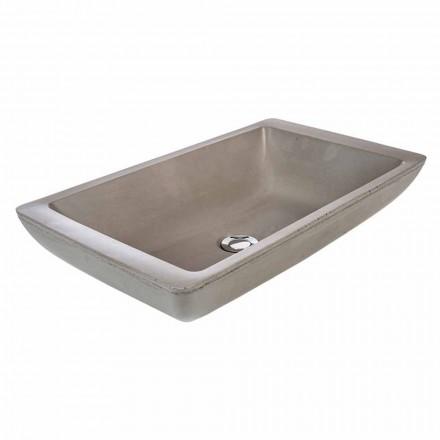 Handgearbeitetes Aufsatzwaschbecken aus Zement Rivoli