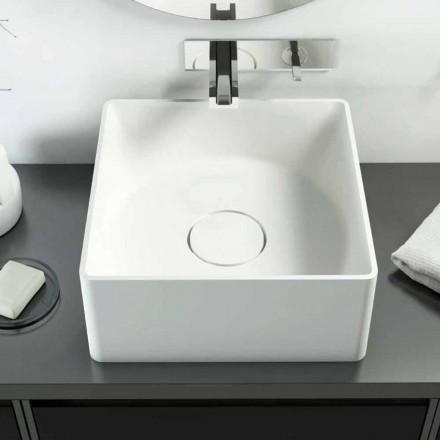 Modernes Aufsatzwaschbecken in einer Quadratischeform in Italien hergestellen, Forino