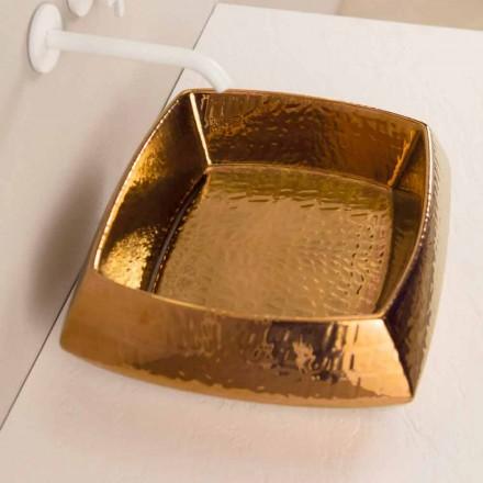 Aufsatzwaschbecken, bronzefarbe, Keramik, modernes Design Laura, Italy