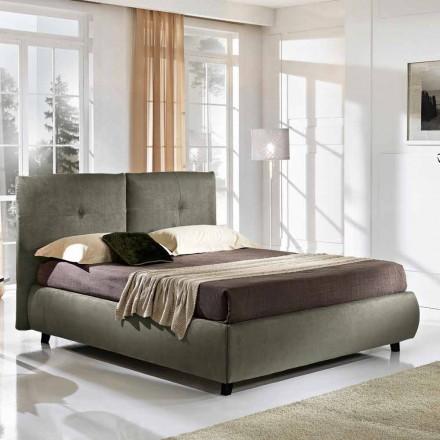 Gepolstertes Doppelbett mit Aufbewahrungsbox 160x190/200 cm Nina