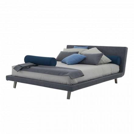 Hochwertiges modernes gepolstertes Doppelbett Made in Italy - Yurgen