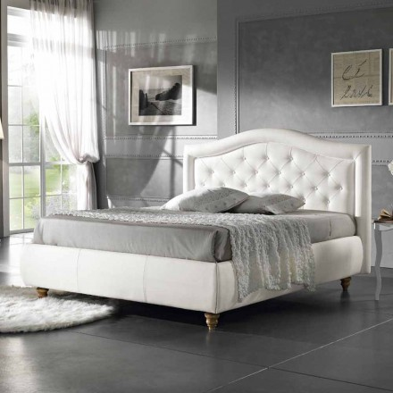 Gepolstertes Doppelbett aus Kunstleder mit Aufbewahrungsbox 160x190/200 cm Agly