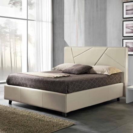Doppelbett aus Kunstleder mit Aufbewahrungsbox 160x190/200 cm Mila