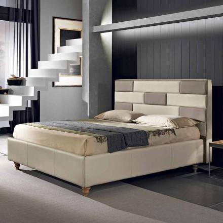 Doppelbett aus Kunstleder mit Aufbewahrungsbox 160x190/200 cm Gin