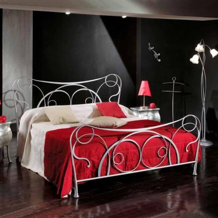 Doppelbett 160x190 cm aus Eisen handgefertigt Made in Italy Zoe