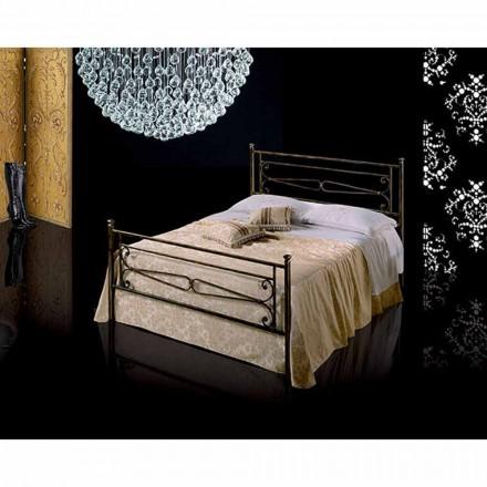 Doppelbett aus Schmiedeeisen Topazio