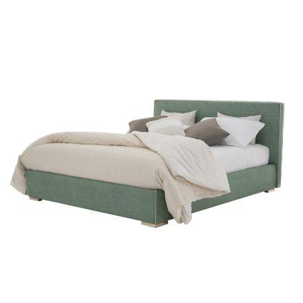 Doppelbett aus Stoff oder Öko-Leder mit Behälter Made in Italy - Etoile