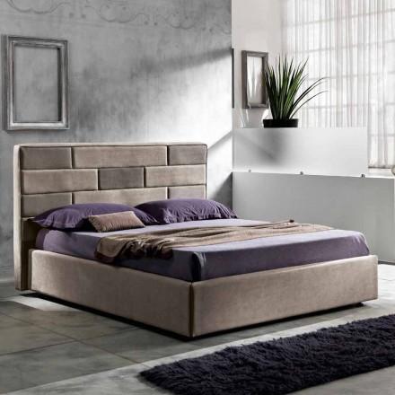 Modernes Doppelbett mit Aufbewahrungsbox 160x190/200cm Gin
