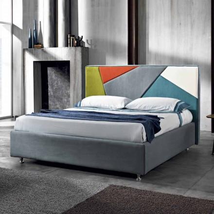Doppelbett, gepolstert, mit Aufbewahrungsbox 160x190/200cm Mia