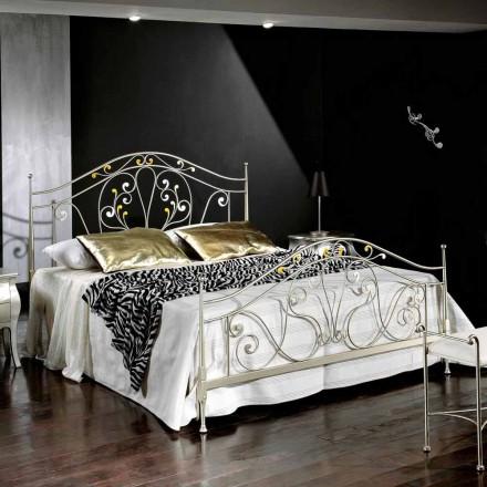 Doppelbett 160x190 cm aus Eisen handgefertigt Made in Italy Jessica