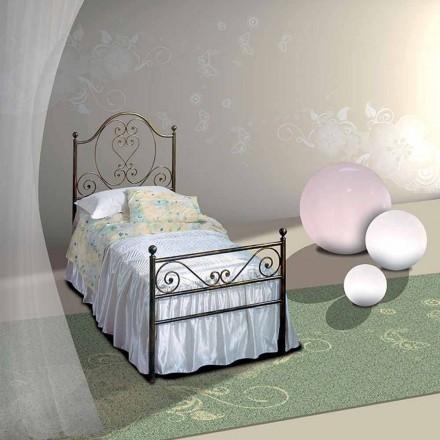 Einzelbett aus Schmiedeeisen Gea