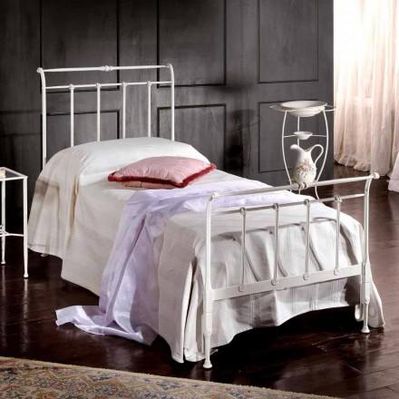 Einzelbett aus Schmiedeisen 85x190 handgefertigt Made in Italy Amanda