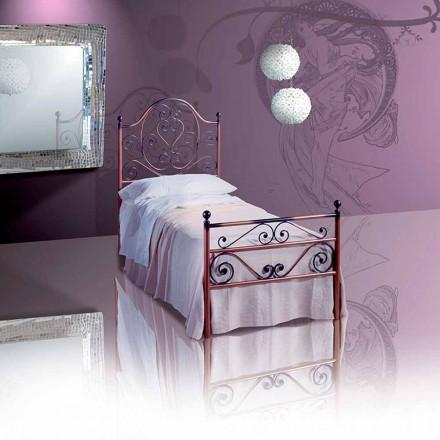 Einzelbett aus Schmiedeeisen Zircone