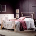 Bett 120x190 cm aus Schmiedeeisen Claudia Made in Italy