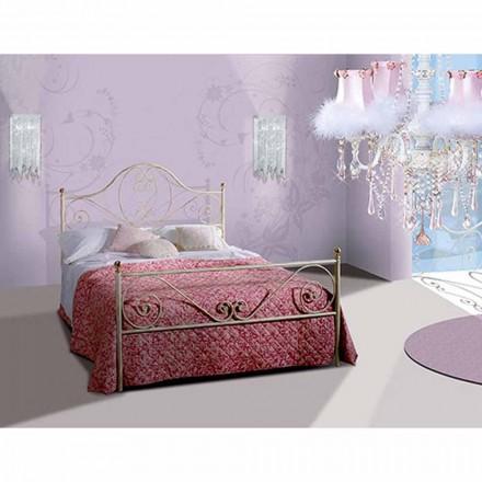 Jugend Queen Size Bett aus Schmiedeeisen Gea