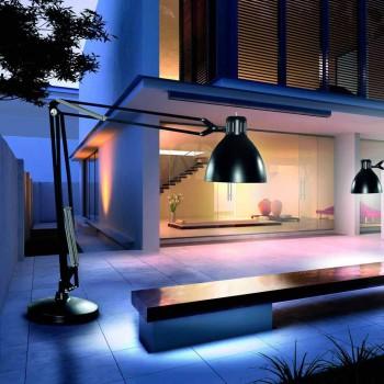 Leucos The Great JJ Außenstehlampe in Aluminium-Design