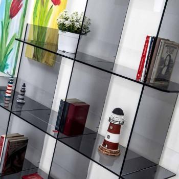 Bücherregal Sfera3 L180 x H180 x P30 cm, hergestellt in Italien