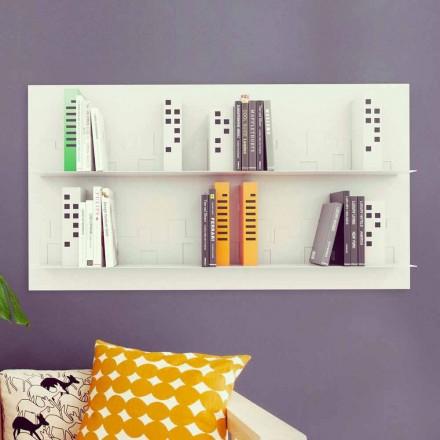 Design Wand Bücherschrank Skyline 130x70 Mabele
