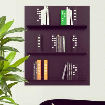 Moderne Design Wand Bücherschrank Skyline  90x110 Mabele