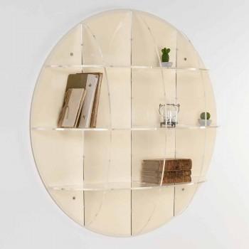 Bücherregal Gio mit modernem Design, beige, made in Italy