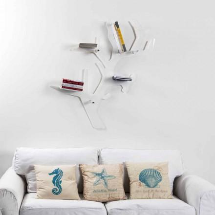 Modernes Bücherregal mit weißem Design von Carol, hergestellt in Italien